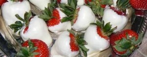 white dipped strawberrys