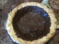 Chocolated coated pie shell 4