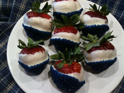 Red, White and Blue Strawberrys