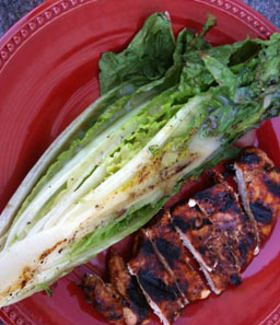 Blackberry Chicken and Grilled Romaine