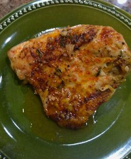 Roast Chicken with Blood Orange Sauce