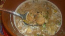 Mushroom Leek Soup 2